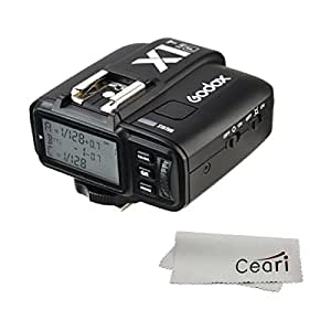 Godox X1T-F 2.4G Wireless Flash Transmitter for Fujifilm X-Pro2, X-T20, X-T1, X-T2 Digital Camera with MicroFiber Cloth