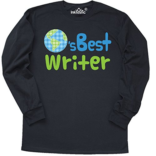 inktastic Worlds Best Writer Long Sleeve T-Shirt X-Large Black 19bc7 (Worlds Best Writer)