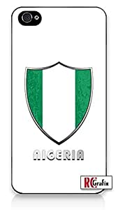 The Best Nigeria Flag Badge Direct UV Printed (not a sticker) iPhone 4, 4s Quality TPU SOFT RUBBER Snap On Case for iPhone 4 - AT&T Sprint Verizon - White Case