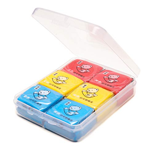 Drawing Kneaded Erasers for Artists - Assorted Colors (12 Packs)