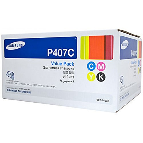 Samsung CLT-P407C Toner Cartridge - Black, Yellow, Cyan, Mag