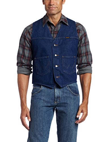 Wrangler Men's Unlined Vest, Denim, X-Large