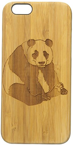 Krezy Case Real Wood iPhone 6 Case, Cute Panda iPhone 6 Case, Wood iPhone 6 Case, Wood iPhone Case,