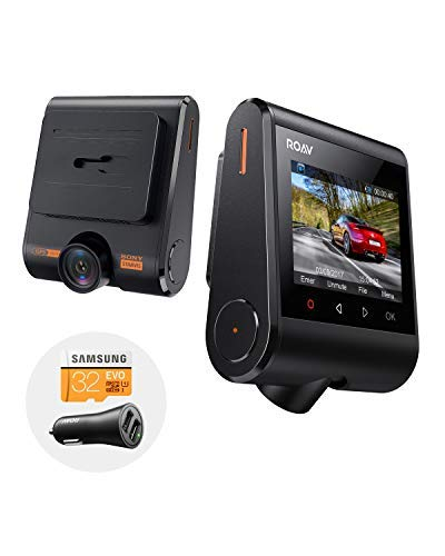 Roav DashCam S1, by Anker, with Full HD 1080p Resolution @60 fps, NightHawk Vision, Sony Starvis Sensor, Built-In GPS, Wi-Fi for Easy Sharing, 4-Lane Wide-Angle Lens, 2-Port Charger, 32GB microSD Card