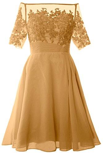 Party Dress Of Women Short Off Mother Gold The Formal Shoulder Macloth Gown Bride tfB6UwtOq