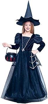 Disfraz Bruja Spiderweb Brillante para Niña Halloween (10-12 años ...