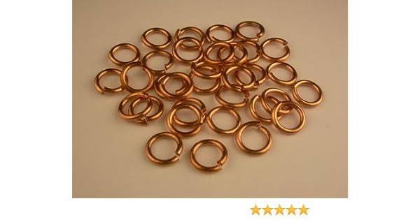 pkg of 150-1 Oz Saw-Cut Solid Brass 18 Ga  BRASS JUMP RINGS 10 MM O//D