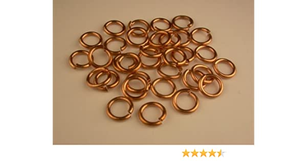 6 MM O//D Of 190 p Pkg 16 Ga Bronze Jump Ring // 1 Oz Saw-Cut  Solid Bronze