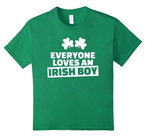 Kids Everyone loves an irish boy T-Shirt 12 Kelly Green (Green Love Boys Irish)