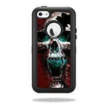 Mightyskins Protective Vinyl Skin Decal Cover for OtterBox Defender iPhone 5C Case wrap sticker skins Wicked Skull