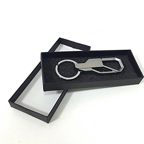 KooKen Creative-Metall Auto Keychain Ring-Schlüsselanhänger Schlüsselanhänger für Männer - Silber
