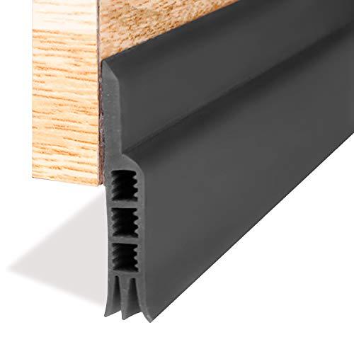 Door Draft Stopper, Under Door Draft Blocker Insulator Door Sweep Weather Stripping(White 2