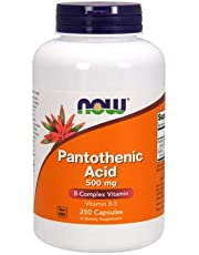 Pantothenic Acid from Calcium Pantothenate, 500 mg, 250 Caps by Now Foods (Pack of 3)