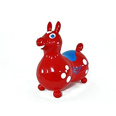 GYMNIC Rody Max Inflatable Horse, Red: Toys & Games