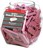 Baumgartens Rubber Eraser Tub Display - Stain Resistant, Smear Resistant, Latex-free, Lead-free - 140 / Display Box - Pink