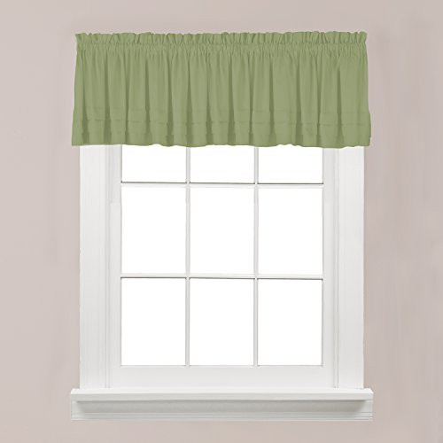 Green Tailored Valance - SKL Home by Saturday Knight Ltd.  Holden Valance, Sage, 58 inches x 13 inches