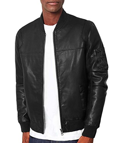 FRIED DENIM Men's Premium Multi Style Bomber Jacket AJK45748 Black S