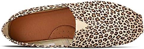 TIZORAX - Mocassini da donna con stampa leopardata, comodi, casual, in tela, per barca, taglia 3