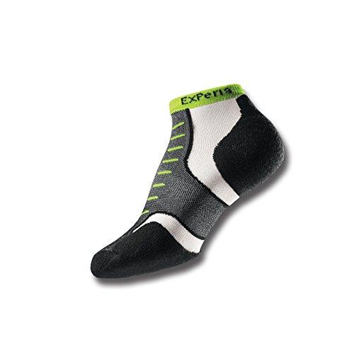 THORLO Experia Lite Padded Micro Mini Sock, Black/Yellow, US