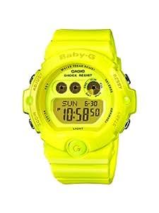 CASIO BABY-G BG-6902-9ER - Reloj digital de cuarzo con correa de resina para mujer (luz, alarma, cronómetro), color amarillo