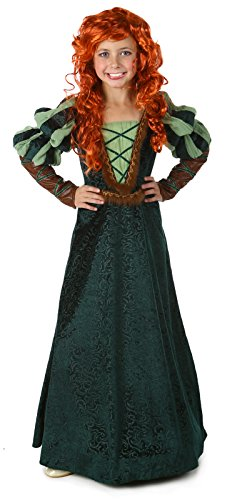 High End Halloween Costumes Toddler (Largemouth Girl's Brave Forest Princess Costume Child Green (M)