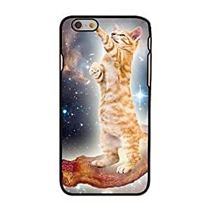 "For iPhone 6 Case, Fashion Cat In Space Pattern Protective Hard Phone Cover Skin Case For iPhone 6 (4.7"") + Screen Protector"