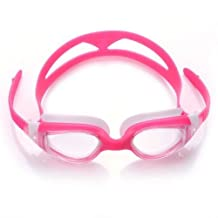 For Kids Pink Swimming Goggles Anti-fog Uv Protection Quick Adjustable Strap