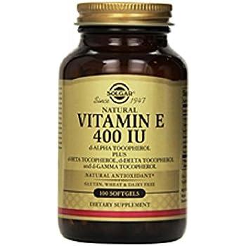 Solgar - Vitamin E 400 IU Mixed (d-Alpha Tocopherol & Mixed Tocopherols) 100 Softgels