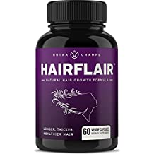 HAIRFLAIR - Hair Growth Vitamins with Biotin for Longer, Stronger, Faster, Healthier Hair - Scientifically Formulated Supplement with Keratin, Collagen, Bamboo, Aloe Vera & More! - For All Hair Types