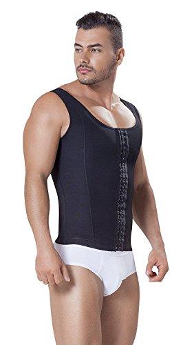 Fajitex Fajas Colombianas para Hombres Mens Girdle High Compression Garmen Shapewear Body Shaper for Men 026950 (XXX-Large, Black)