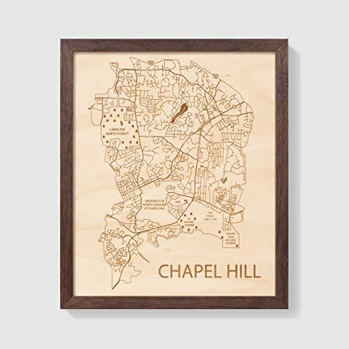 Etched Atlas Chapel Hill, North Carolina - Wall Map (12