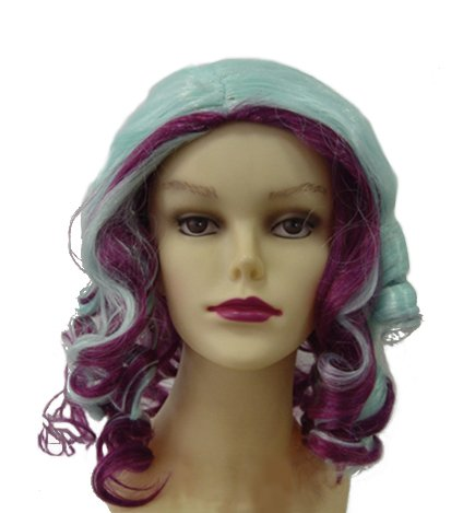 Madeline Wig Cosplay Purple Reseda Curls Hair Costume Accessories Halloween (Madeline Costume For Adults)