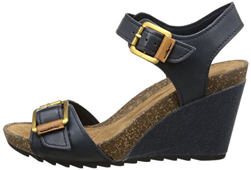 c0aba354bc9 Clarks Women s Overly Sparkle Navy (Fit D) Leather Fashion Sandals - 9 UK   Buy Online at Low Prices in India - Amazon.in