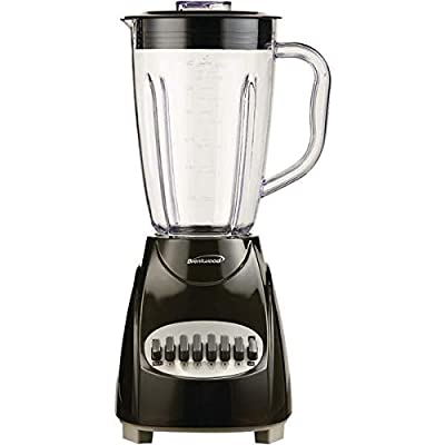 Brentwood(r) Appliances Jb-220b 50-Ounce 12-Speed + Pulse Electric Blender With Plastic Jar (black)