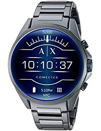 Men's Smartwatch Touchscreen Watch with Stainless-Steel-Plated Strap, Blue, 20 (Model: AXT2003)