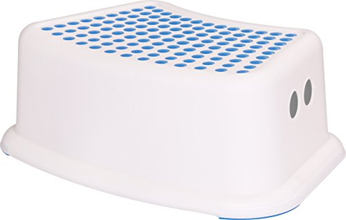 Utopia Home Kids Step Stool - Perfect for Potty Training and Bathroom Use (Blue) (Baby Dotted Feet)