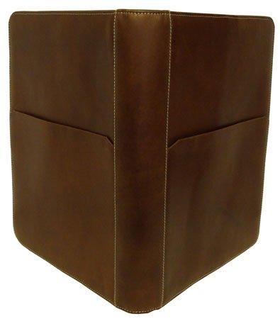 amerileather-leather-writing-portfolio-cover-brown