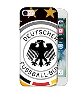 ColorKing Football Germany 14 Multicolor shell case cover for Apple iphone 8