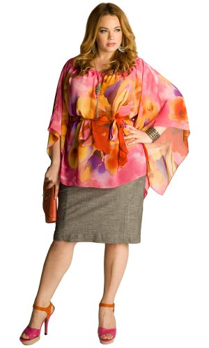 IGIGI Plus Size Kali Tropical Flower Tunic 14/16