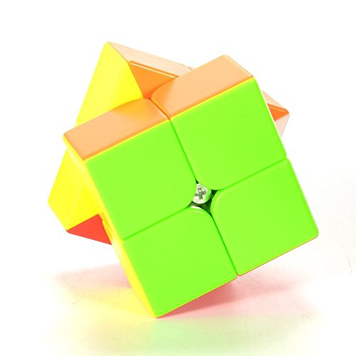 Twister.CK Qiyi Qidi S 2x2 Stickerless Speed Cube Magic Cube Puzzles Brain Teasers Toys