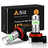 Alla Lighting 2800lm Xtreme Super Bright H11 LED Bulbs Fog Light High Illumination COB-72 LED H11 Bulb H8 H16 H11 Fog Lights Lamp Replacement - 8000K Ice Blue