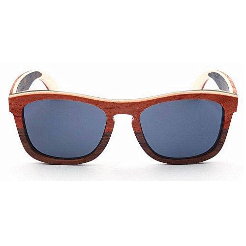 a del los de hombres alta color de de doble Gafas Gafas mano marco madera de de hechas calidad la lente oscura sol del ULTRAVIOLET Eyewear de sol TAC de conducción polarizadas la sol Gafas de Adult de nOqzHaO