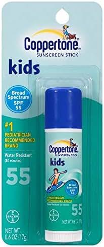 Coppertone Kids Sunscreen Stick SPF 55 0.60 oz