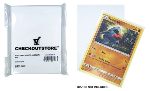 CheckOutStore 5,000 Double Matte White Protective Sleeves for Trading Cards (66 x 91 mm)