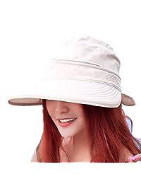 ffbed7a1 FZAY Visor Hats Wide Brim Cap UV Protection Summer Sun Hats for Women