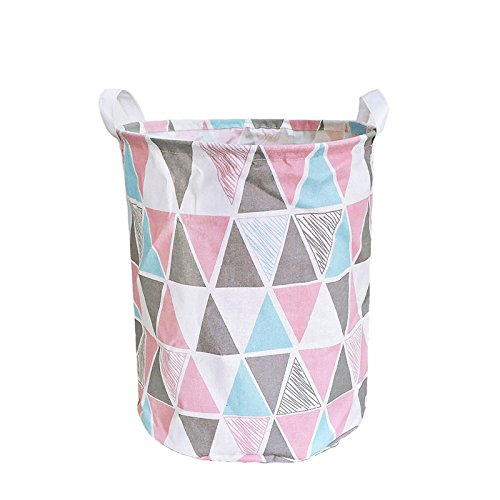 Merdes 19.7'' Waterproof Foldable Laundry Hamper, Dirty Clothes Laundry Basket, Linen Bin Storage Organizer for Toy Collection (Triangle)