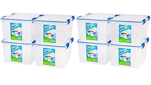 IRIS USA, Inc. Ziploc 44 Qt./11 Gal. WeatherShield Storage Box, Clear/ 8-Pack