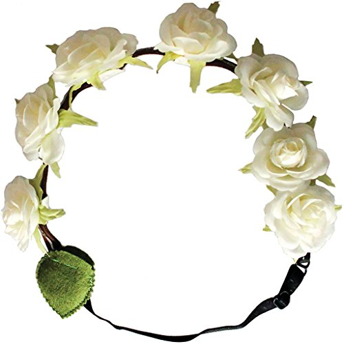 Costumes Halloween Yourself Cute Do It (Mia Flashion Flowers-Flower Halo Headband That Lights Up! White Colored 1