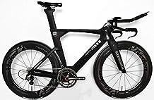 Stradalli Black TT Full Carbon Time Trial Triathlon TTR-8 Bike. Shimano Dura Ace 9070 Di2 11 Speed. Vision Metron 81 Carbon Clincher Wheelset. -Stradalli-54cm