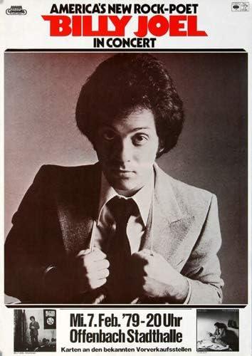 Amazon Com Billy Joel Big Shot 1979 Poster Concertposter Concert Prints Kitchen Dining